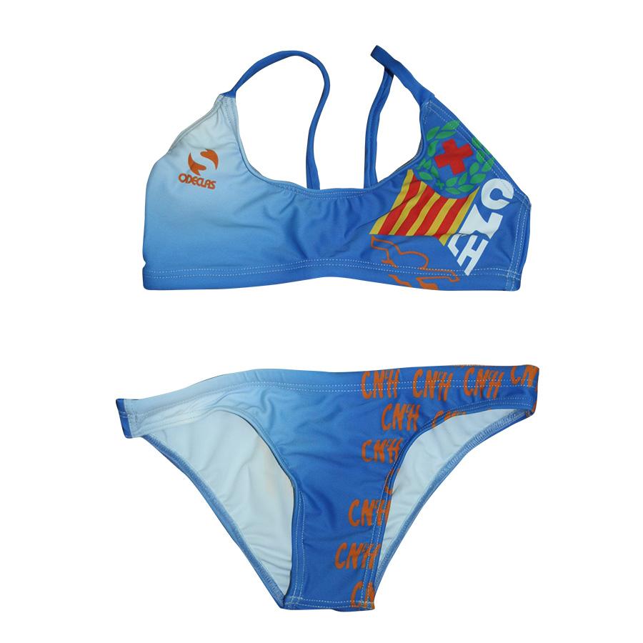 Bikini blau davant CNLH