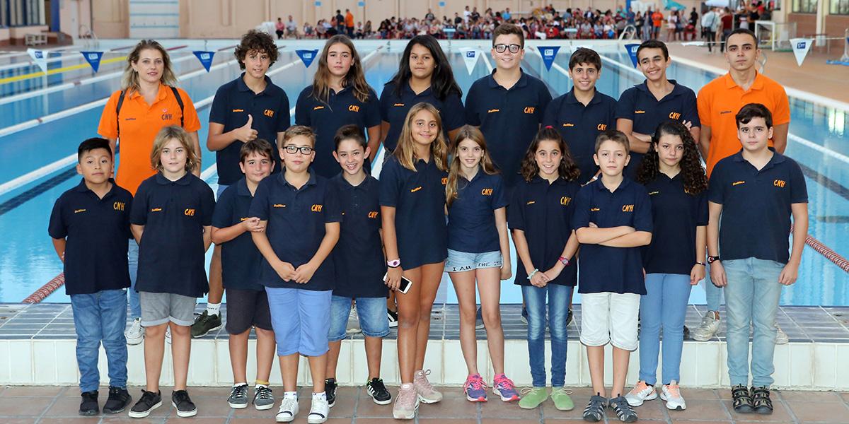 equip waterpolo infantil cnlh 2018-2019