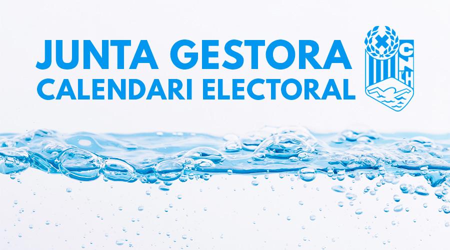 junta gestora i calendari electoral 18 febrer 2019