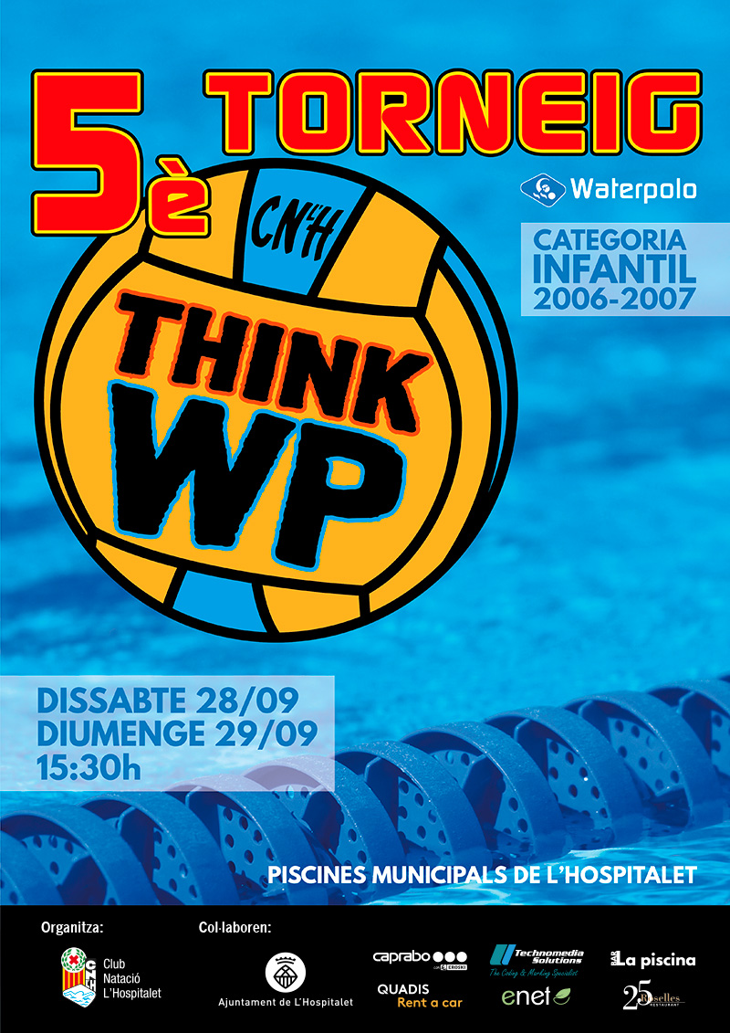 poster 5e torneig think waterpolo cnlh 2019