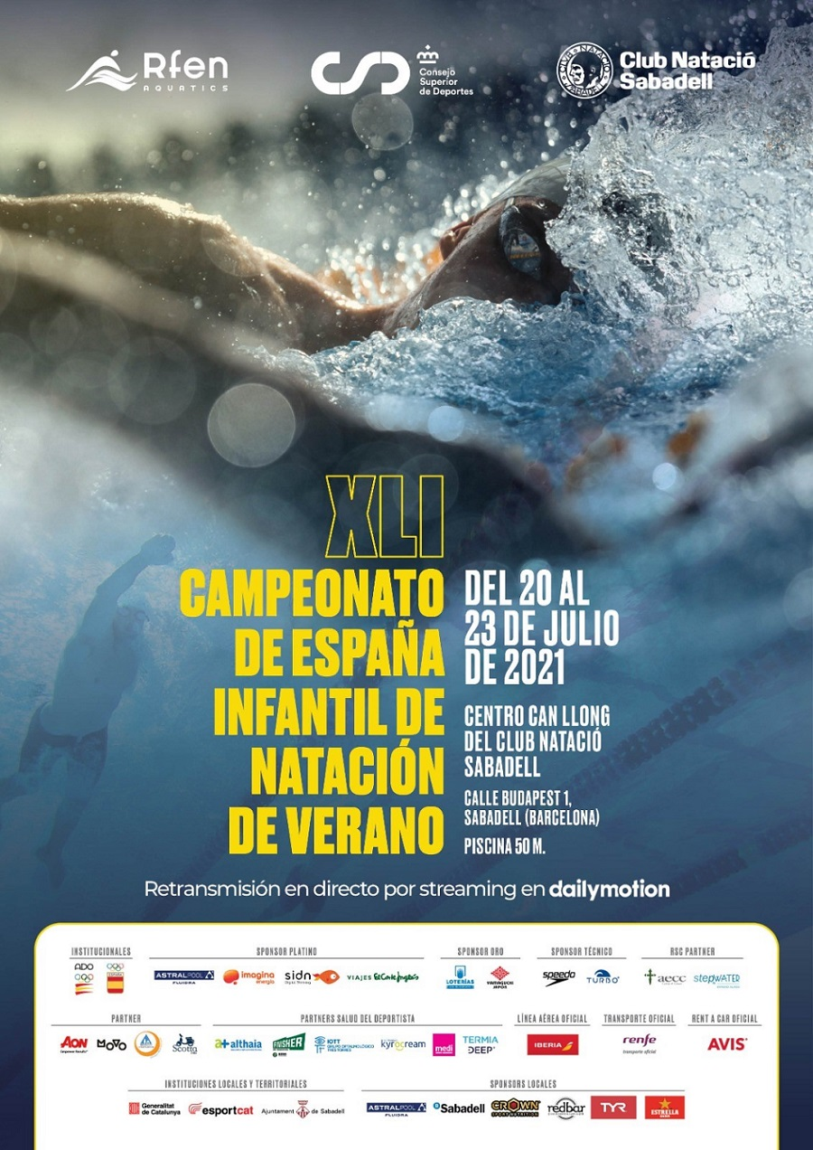 campionat espanya infantil de natacio d'estiu 2021 cartel