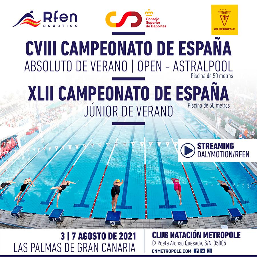 campionat absolut-junior de natació estiu 2021